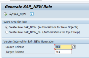 Regenerate SAP_NEW