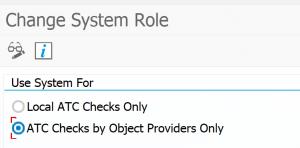 Set central system role