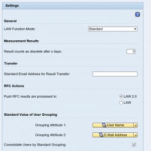 SLAW2 settings