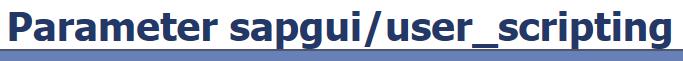 SAP GUI Scripting