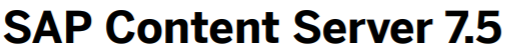 SAP content server 7.5