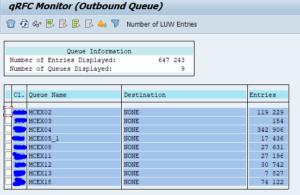 SMQ1 BI outbound queues